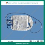 CE&ISO Approved Cross Valve Luxury Urine Bag with Slide Clamp& Air Inlet Filter