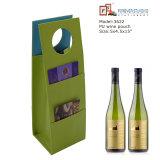 Green PU Leather Gift Wine Bag (3622)