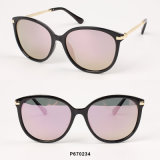 New Fashion Women Oversized Sunglasses with Metal Temple