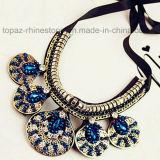 2016 Custom Jewelry Rhinestone Necklace, Fashion Choker Statement Necklace (TP-094 sapphire)