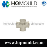 Plastic Injection Pipe Fitting Cross Mould