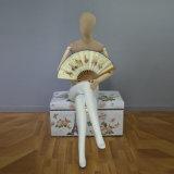 OEM Fiberglass Women Mannequin in Seated Posture