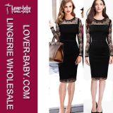 Best Quality Woman Lace Plus Size Dress (L36023)