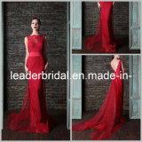 Sheer Lace Evening Dress V-Back Sleeveless Sheath Wedding Party Dress E13231