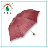 3 Folding Checker Super Mini Umbrella