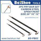 "Labor-Saving 3-PCS Rolling Head 6"" 12"" 16"" Pry Bar Set"