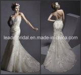 Champagne Bridal Dresses Lace Bodice Mermaid Wedding Gowns Ld11610