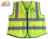 Customize Pocket with Zipper Reflective Safety Vest, Safety Garment, Reflective Garment