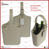 Two Bottles Wine Basket with Tag (4046R3)