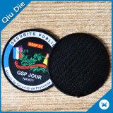 Round Woven Badges Custom Velcro Back