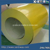 Yellow Coior Coated Steel Coil Sheet