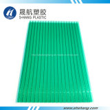 Frosted Green Polycarbonate Hollow Sheet with 10 Years Warranty