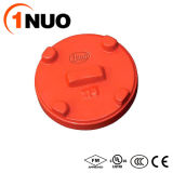"""1""""-12"""" Grooved Ductile Cast Iron Cap Fittings for Pipe"""