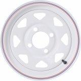 China Factory 4/4.5 Sliver Black White 8 Spoke Steel Wheels