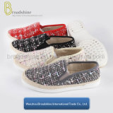 2017 Hot Sell Woven Lady Shoes with Hemp Rope Foxing