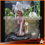 Stone Water Fountain with Beauty Women Statue in Garden