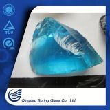 Light Blue Clear Glass Rocks for Decoration