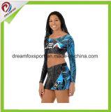 Sexy Cheerleading Uniforms Custom Sublimated Women Practice Wear tights