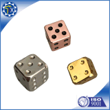 DIY Your Style Square Corner 6 Sided Casino Silver Metal Dice