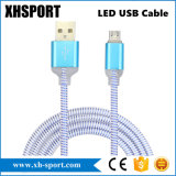 Colorful LED Light USB Micro Cable for Mobile Phone