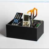 White Black Acrylic Pen/Pencile/Scissors/Remote Controller Storage Box