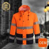 OEM Orange Waterproof Hi Vis Uniforms Construction Safety Workwear