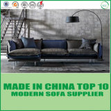 Modern Home Genuine Leather Sofa Bed with Feather