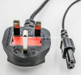 250V UK Power Cord/ Bsi Power Cord UK Power Cord with Socket UK Plug with 8 Socket 2 Pin