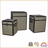 Wooden Decorative Plain Linen Storage Trunk