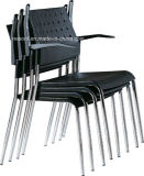 Chrome Frame Fabric Stackable Plastic Office Visitor Chair (NS-5CH130)