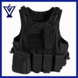 Army Black Military Equipment Tactical Vest (SYSG-223)
