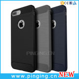 Carbon Fiber Cellphone Silicon Cases for iPhone 6/7 Plus Case