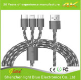 Wholesale Newest 3 in 1 Nylon Braided USB Cable