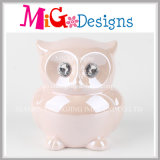 Children Toy Ceramic Money Bank Owl Shaped Piggy Bank