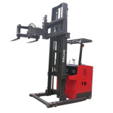 Battery Reach Forklift Narrow Aisle Fork Lifter with 1000 Kg