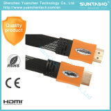 High Quality 2.0V Am/Am Flat Nylon HDMI Cable for HDTV