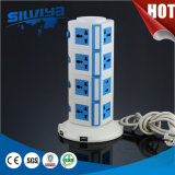 20 Outlets Multi Desktop Socket with 2.1mA USB