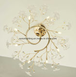 UL Approval Interior Crystal Wrought Iron Ceiling Light