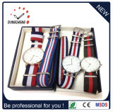 Fashion Leather Strap Wristwatch Stainless Steel Watches Quartz Watch (DC-336)