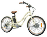 "26"" Aluminum Frame 7 Speed Women Beach Cruiser Electric Bike"
