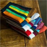Fashion Vertical Colorful Stripe Dress Socks