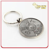 Promotion Nickel Plated Calendar Metal Key Chain