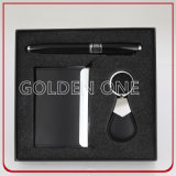 Executive Keychain & Card Holder & Pen Gift Set