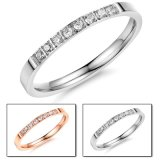 Fashion Designer Crystal Diamond Woman Rings Stainless Steel Jewelry