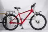 7 Speed Travel Bike Fat Mountain Bike with Removeable Luggage Rack Bicycle