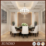 Dining Room Decorative White Color Wood Plastic Composite Coffered Ceiling