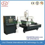 Cylinder Wood Column Carving Machine with Vacuum Table for Woodworking