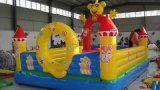 Wholesale Double Slips Cartoon Theme Car Race Inflatable Slide Tb0026
