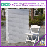 White PP Plastic Resin Folding Chair with Pad