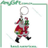 Christmas Soft PVC Keychain with Customized Size